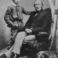 RLS con su padre en 1859 en Edimburgo