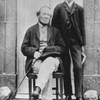RLS con su padre en 1865 en Eliban Villa, Peebles (la que describo en la novela)